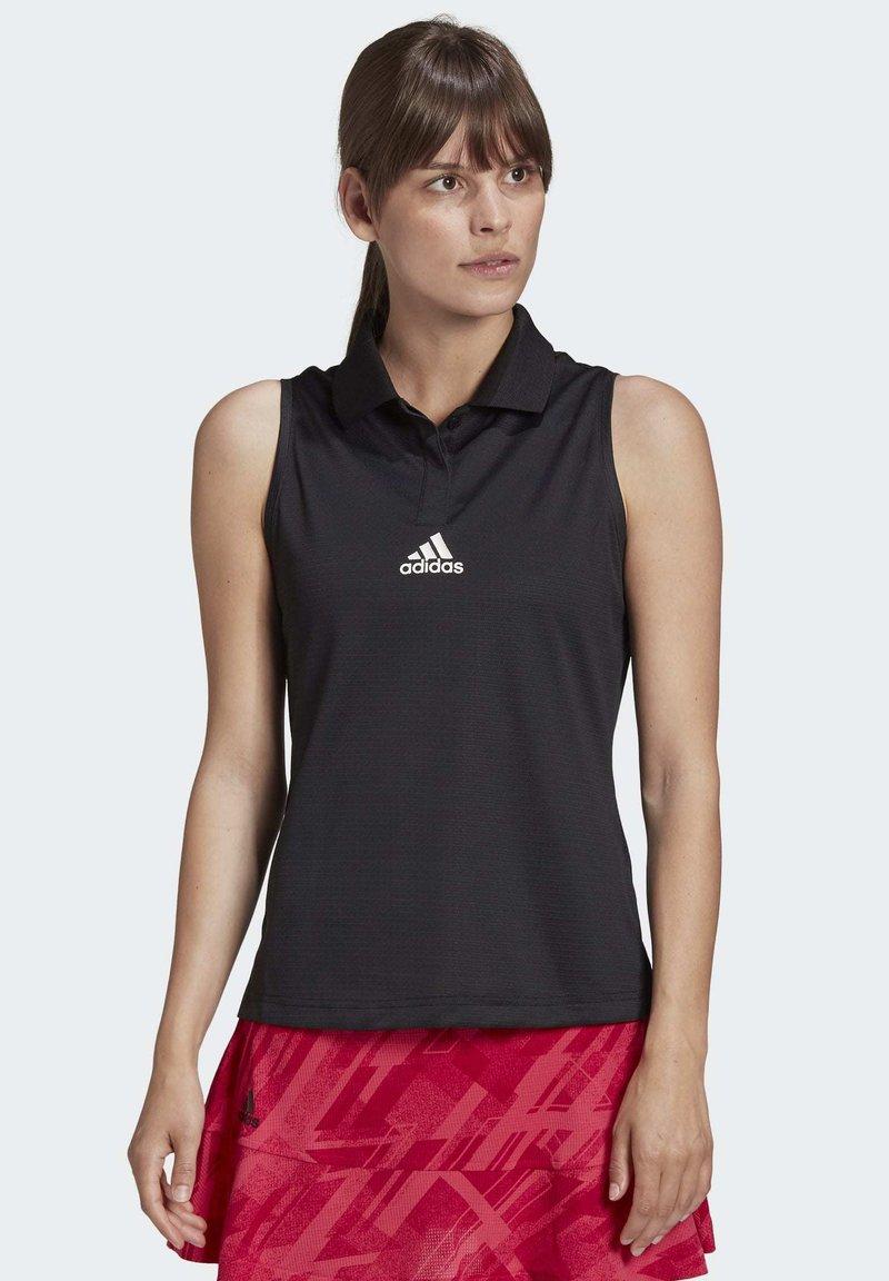 adidas Performance - TENNIS MATCH TANK TOP HEAT RDY - Polo shirt - black