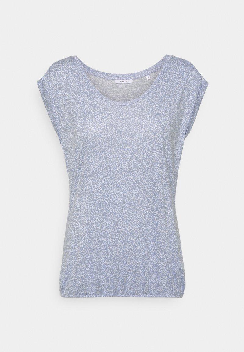 Opus - STROPI ROS - Print T-shirt - blue mood