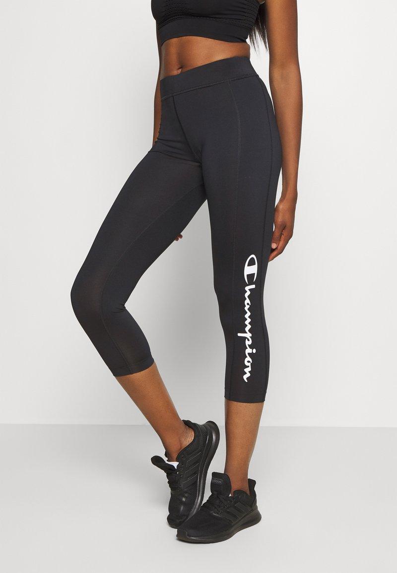 Champion - LEGGINGS LEGACY - 3/4 sportovní kalhoty - black
