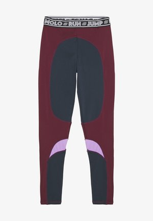 OLYSSIA - Leggings - bordeaux, dark blue