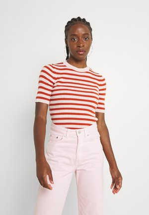 Print T-shirt - cinamon