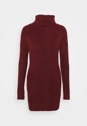 TEXTURAL CREW DRESS - Jumper dress - red