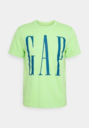 CORP LOGO  - T-shirt med print - neon lime zest