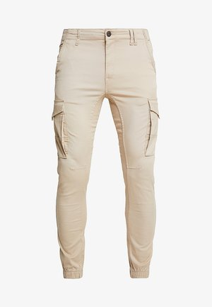 JJIPAUL JJFLAKE - Cargo trousers - white pepper