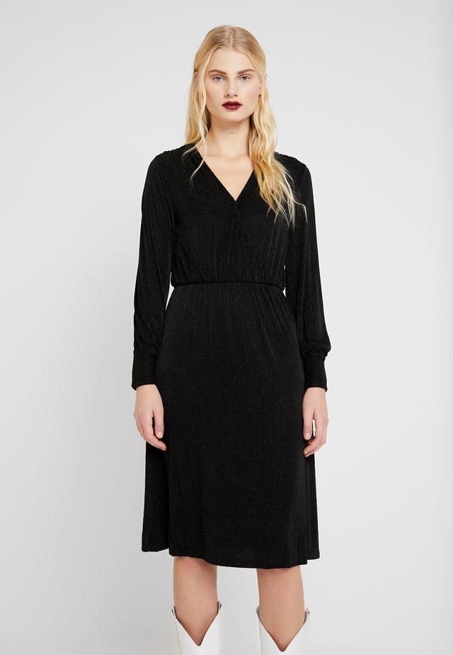 ZETA DRESS - Jersey dress - black