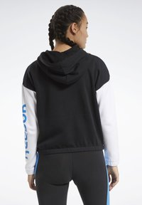 Reebok - TRAINING ESSENTIALS LOGO HOODIE - Zip-up hoodie - black - 2