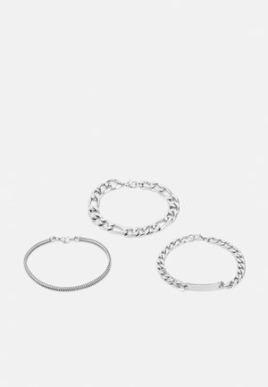 CHAIN 3 PACK - Bracciale - all silver-coloured