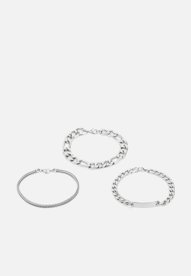 CHAIN 3 PACK - Armband - all silver-coloured