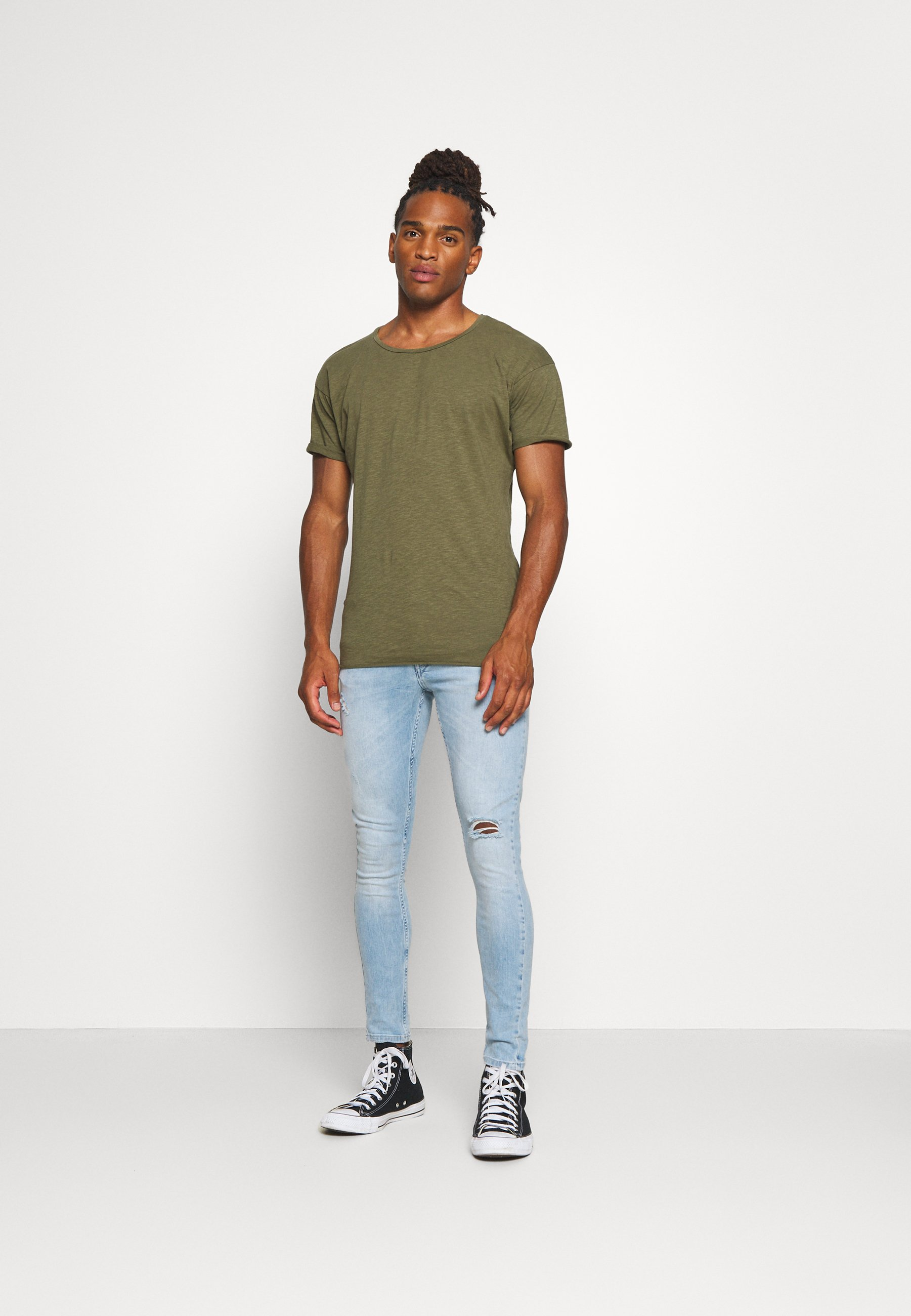 Nudie Jeans ROGER - T-shirts - olive