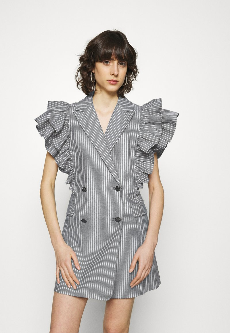 Custommade - KOBANE - Waistcoat - black/white