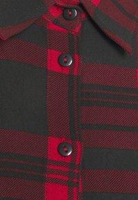 Anna Field - Oversized - Shirt dress - red/black - 2