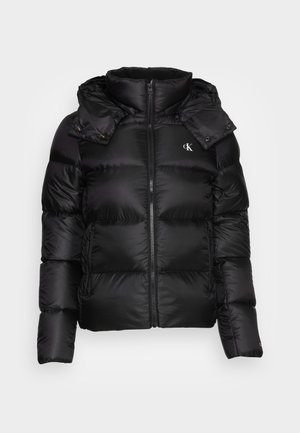 SHINY SHORT PUFFER JACKET - Veste d'hiver - black