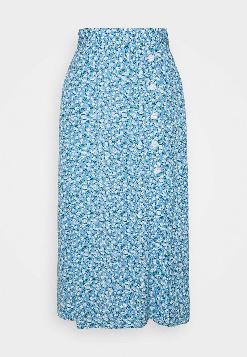 Lindex - SKIRT - A-line skirt - dusty blue