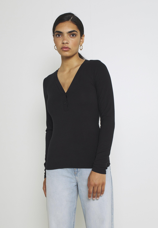 Femme YASBLAX BUTTON - T-shirt à manches longues