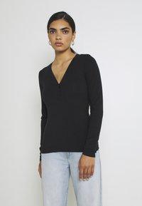 YAS - YASBLAX BUTTON - Long sleeved top - black - 0