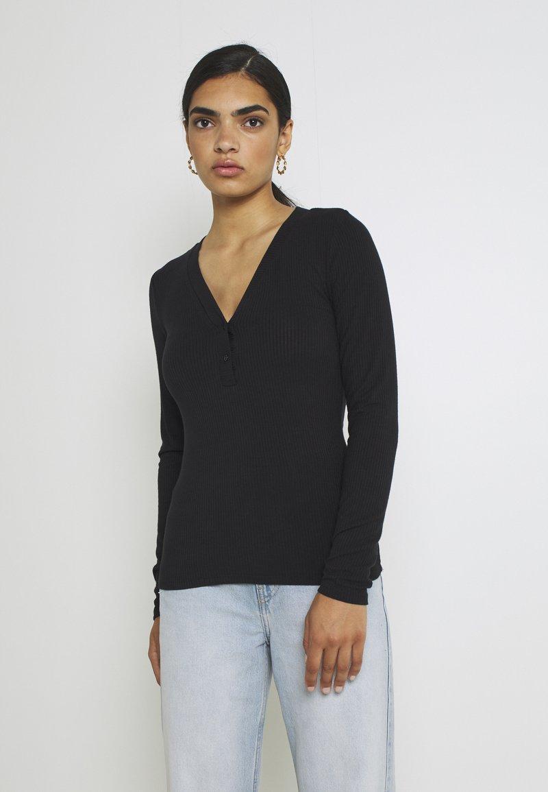 YAS - YASBLAX BUTTON - Long sleeved top - black
