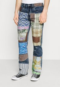 Jaded London - REWORKED PATCHWORK  - Jean bootcut - blue - 0