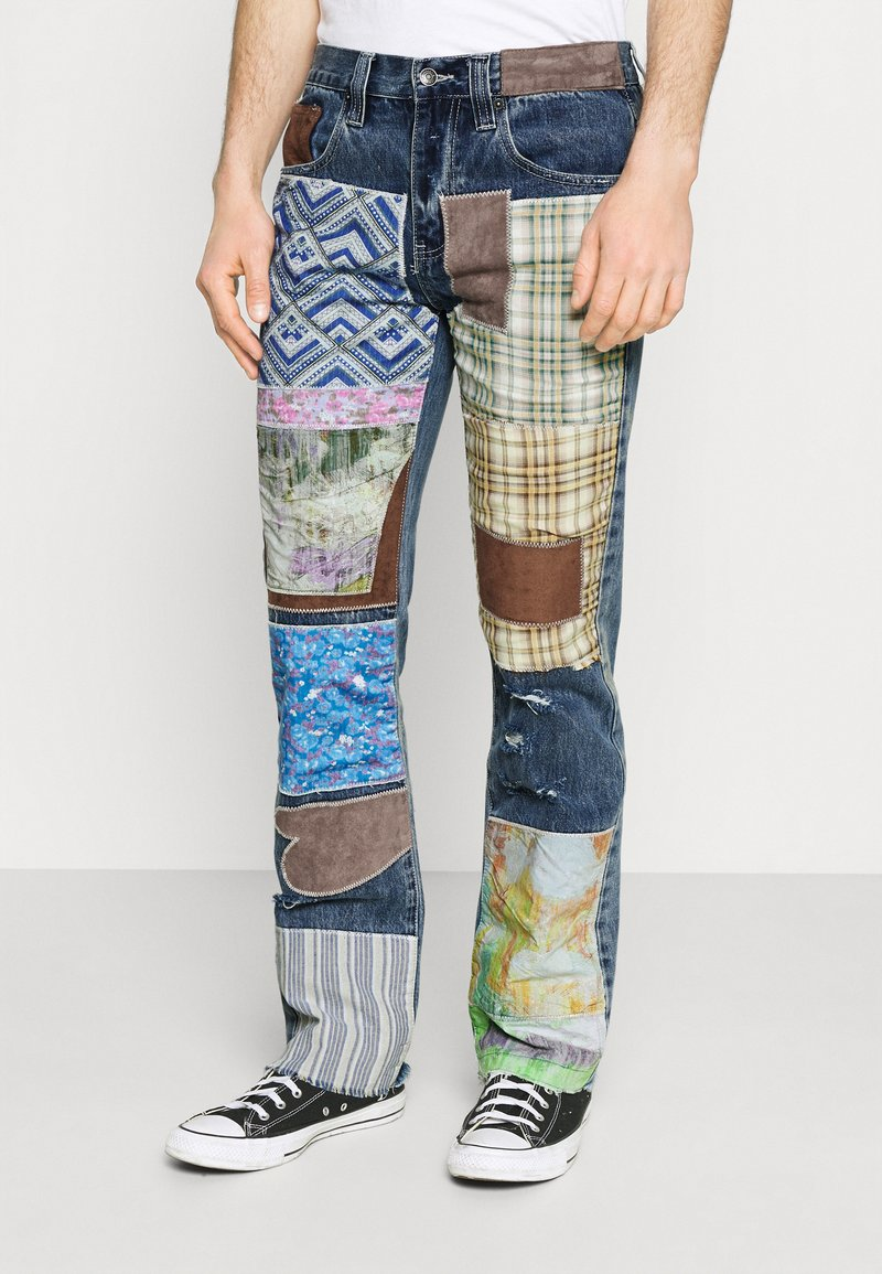Jaded London - REWORKED PATCHWORK  - Jean bootcut - blue