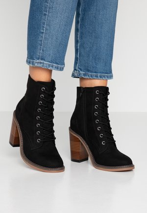 JETTIE - High heeled ankle boots - black