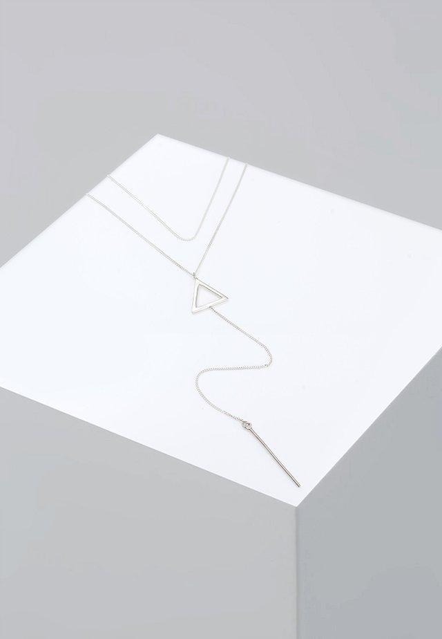 DREIECK CHOKER - Ketting - silver-coloured