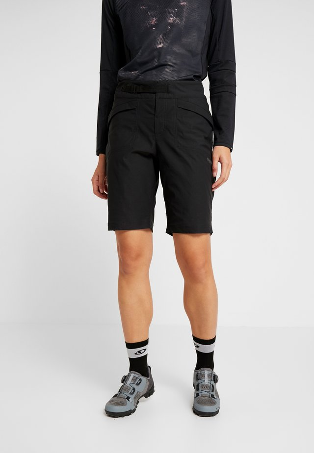 SUMMIT SHORTS WITH PAD - Urheilushortsit - black