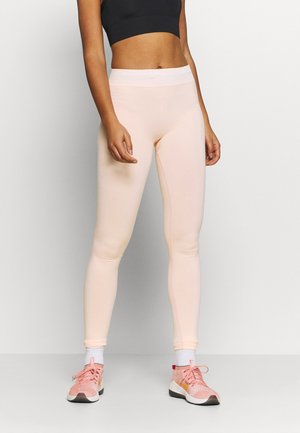CONTRAST WAISTBAND SEAMLESS LEGGINGS - Tights - pink