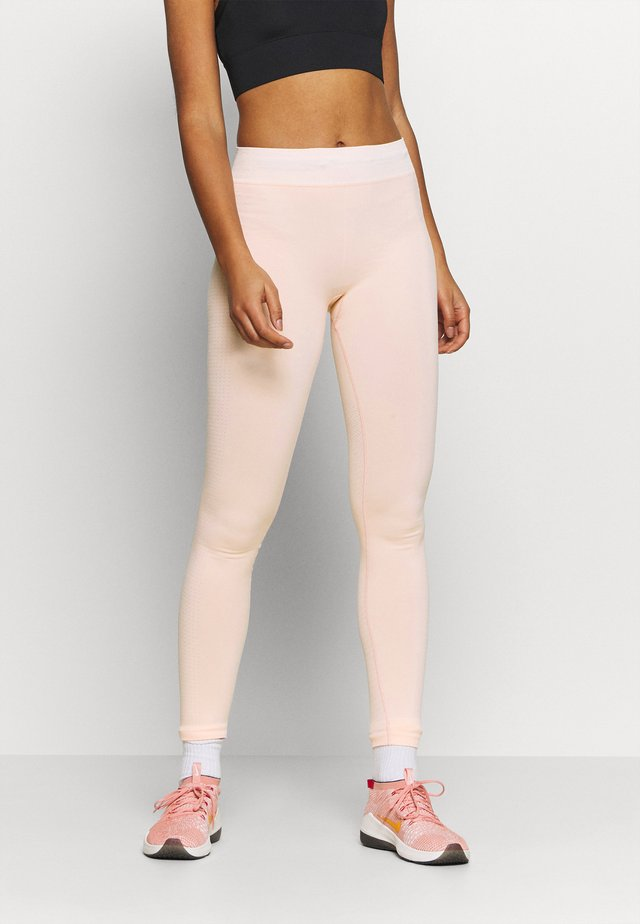 CONTRAST WAISTBAND SEAMLESS LEGGINGS - Collant - pink