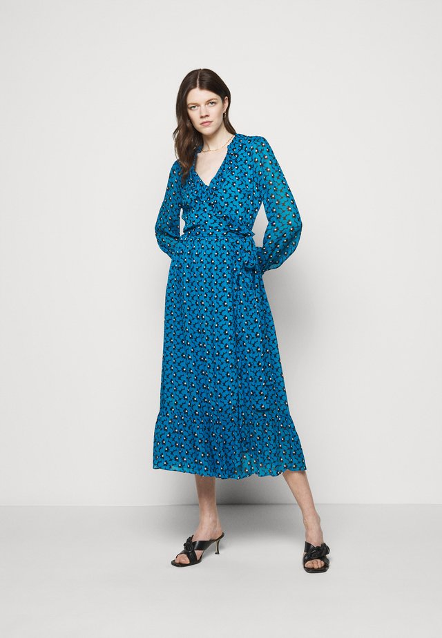 Długa sukienka - cyan blue