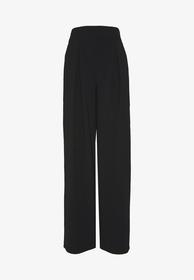 PLAIN PALAZZO - Pantaloni - black