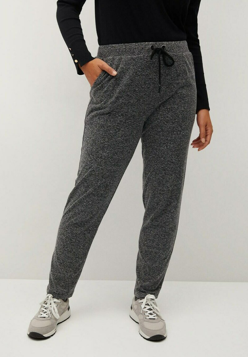 Violeta by Mango - RUNNER-I - Tracksuit bottoms - grau