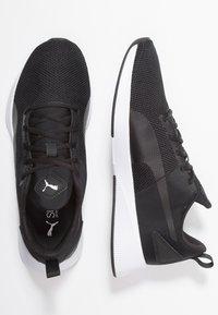 Puma - FLYER RUNNER - Zapatillas de running neutras - black/white - 1
