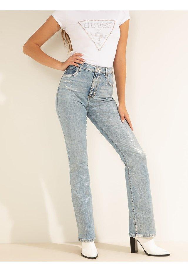 Jeansy Straight Leg - blau