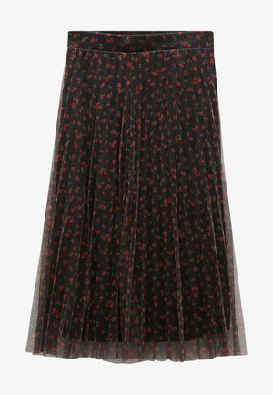 ROCK - A-line skirt - black