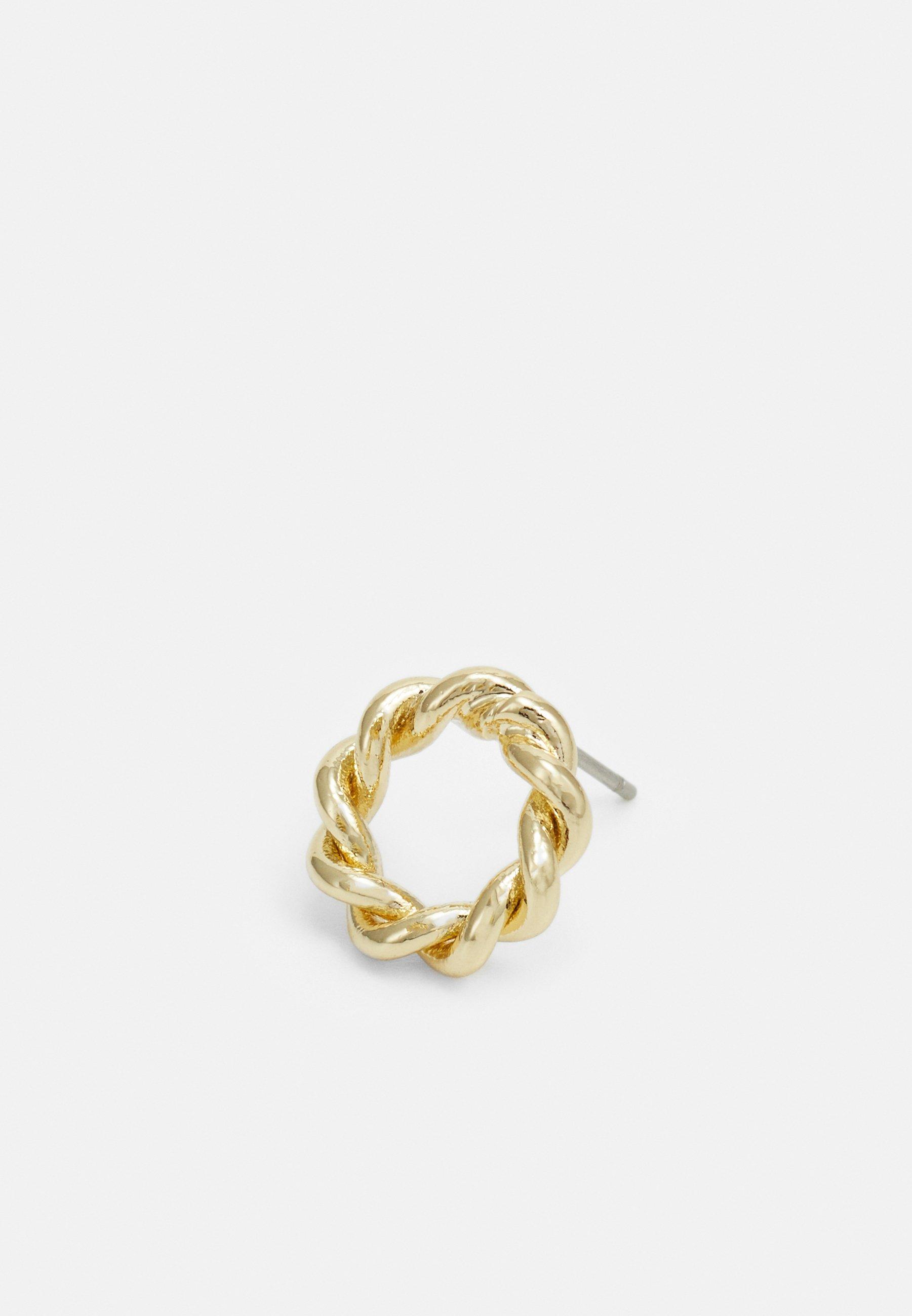 SNÖ of Sweden WAY SMALL ROUND EAR PLAIN - Øredobber - gold-coloured/gull V7Za8OpqHaFLsu6
