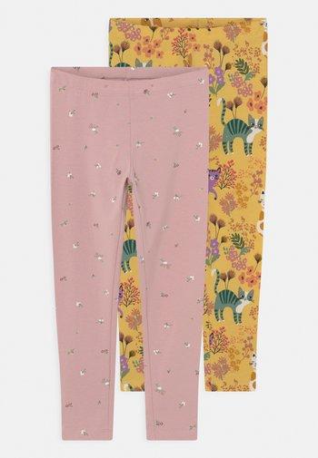 MINI PRINTED 2 PACK - Leggings - Trousers - dusty yellow