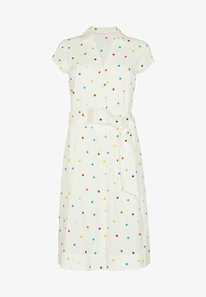 ROWENA  - Shirt dress - naturweiß/polka-tupfen