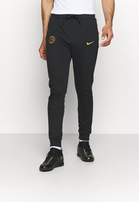 Nike Performance - INTER MAILAND TRAVEL PANT - Club wear - black/truly gold - 0
