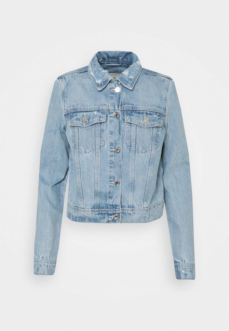 Guess - ADELYA JACKET - Denim jacket - light-blue denim