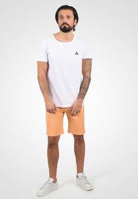 Solid - Denim shorts - orange chi - 1