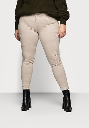 NMLUCY UTILITY PANTS - Trousers - tan