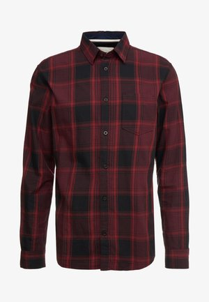 RAY CHECK - Shirt - burgundy /black