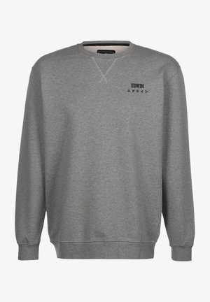 Sweatshirt - mid grey marl garment washed