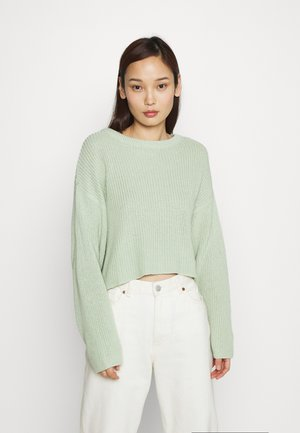 CROPPED JUMPER - Strikkegenser - light green
