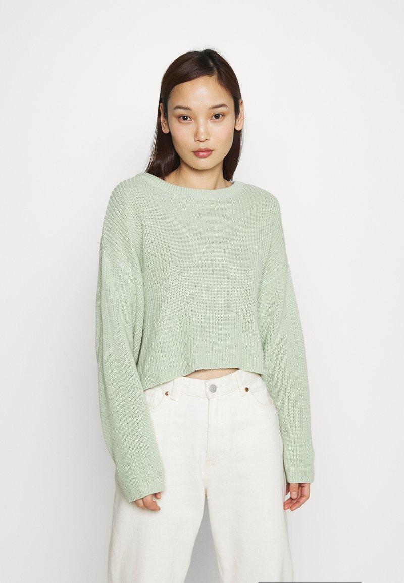 Even&Odd - CROPPED JUMPER - Pullover - light green