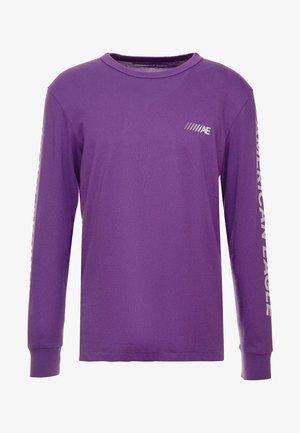 SET IN TEE BOUND NECK - Longsleeve - purple