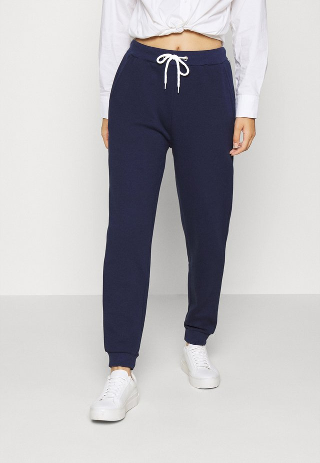 REGULAR FIT JOGGER WITH CONTRAST CORD - Verryttelyhousut - dark blue