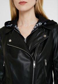Guess - LETIZIA JACKET - Faux leather jacket - jet black - 4