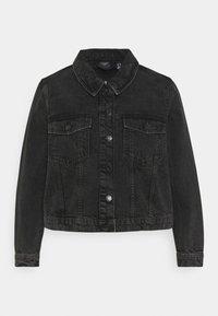 Vero Moda Curve - VMMIKKY SHORT JACKET - Denim jacket - black - 5