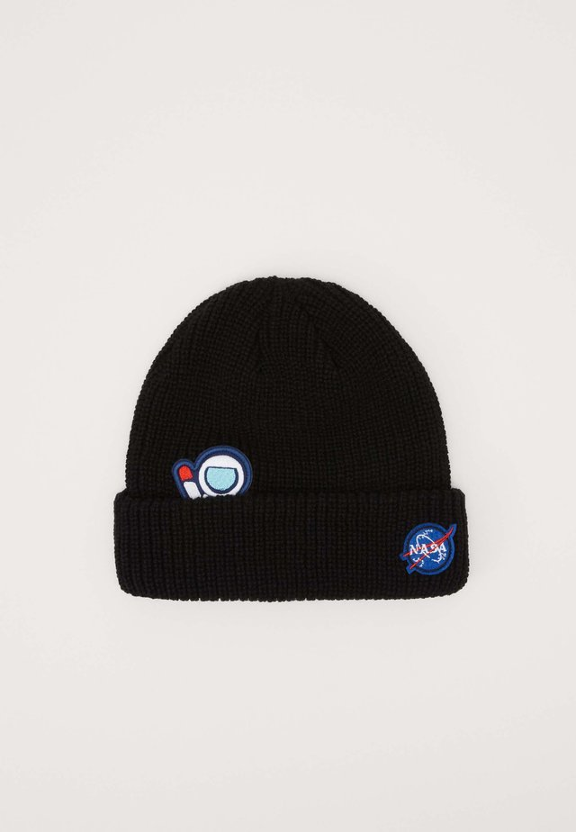 NASA EMBROIDERY BEANIE - Bonnet - black