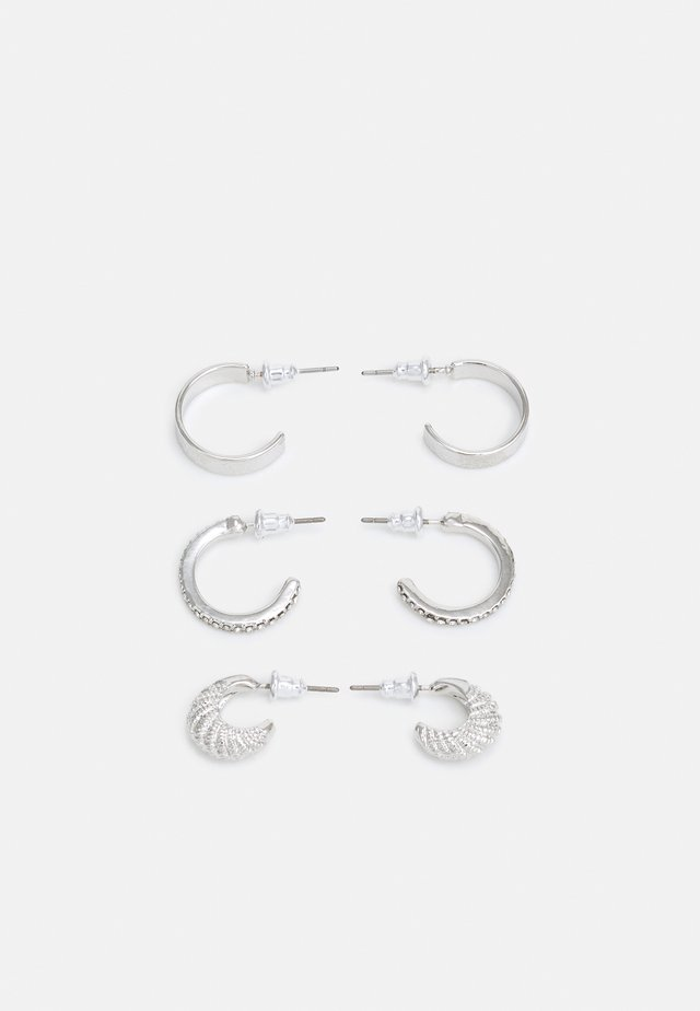 PRETTY HOOP 3 PACK - Øreringe - silver-coloured